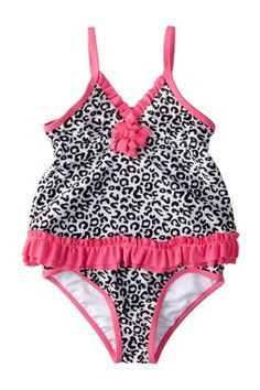 Absorba Cheetah Two Piece Swimsuit