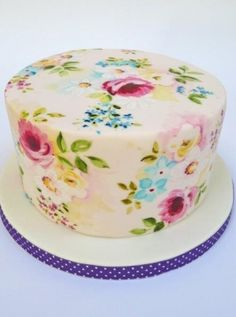 Floral Cake Painting with expert tutor, Natasha Collins