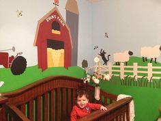 Adorable farm themed baby room!   Wall decor by My Wonderful Walls  http://www.mywonderfulwalls.com/