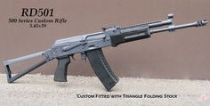 Rifle Dynamics / 500 Series AK rifle in 5.45x39, the RD501 with side-folding stock.