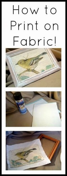 Are you ready to use your printer to print directly on fabric? What a perfect project for some cheap art! I used a graphic from the ...