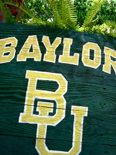 Hand-painted rustic #Baylor sign, spotted on Etsy. #sicem