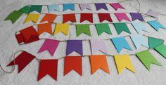 Rainbow Bunting, Rainbow Garland, Rainbow banner, Rainbow, Rainbow nursery, rainbow paper chain, Rainbow kids party, rainbow by DesignedByMonika on Etsy https://www.etsy.com/listing/198617460/rainbow-bunting-rainbow-garland-rainbow
