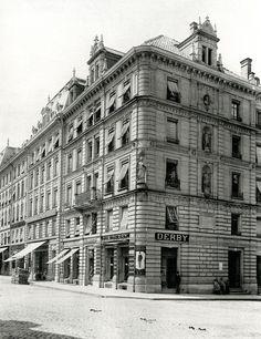 Bern 1880: Hausergruppe an der Neuengasse.