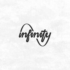 infinity… Based on my hand-lettering sketch- https://www.instagram.com/p/BAliKhRxDw7/