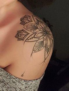 Mandala shoulder tattoo