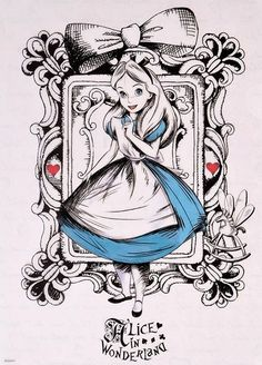 Alice and heart cards