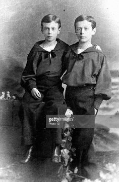 The future Nicholas II of Russia (1868-1918) and his brother, Grand Duke George Alexandrovich (1871-1899).
