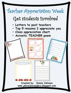 Teacher Appreciation Freebie!