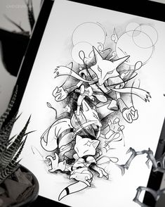 Amazing Pen and Ink Cross Hatching Masters Edition Ideas. Incredible Pen and Ink Cross Hatching Masters Edition Ideas. Doodle Tattoo, Doodle Drawings, Cute Drawings, Tattoo Drawings, Pokemon Sketch, Pokemon Tattoo, Fox Illustration, Desenho Tattoo, Anime Tattoos