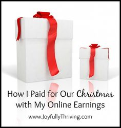 How I Paid for Our Christmas Using My Online Earnings - Here's how I managed to pay for our Christmas with $0 taken from our budget. Start now and you can do it too!