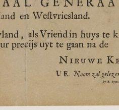Uitnodiging voor de begrafenis van Michiel de Ruyter, Bruno Spanceerder, 1677=. ovb schoonvader H. ter Hoeve. Rijksmuseum