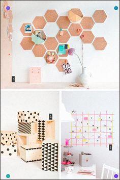 Diy 3 Ideas Para Organizar Tu Casa Home Organization Diy's By Www. Diy Room Decor, Wall Decor, Diy Organisation, Ideas Para Organizar, Ideias Diy, Diy Wall Art, Diy And Crafts, Diys, Diy Projects
