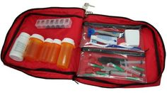 This might work. Amazon.com: Prescription Medication Bag Combination Keyed Lock Travel Case: Health & Personal Care