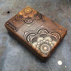Mandala Tattoo  Wooden Box, Cigarette Case, Cigarette Box, Cigarette Holder, Card Holder, gift box