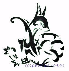 Tribal Serperior (commission) by Gemini-0601.deviantart.com on @DeviantArt Tribal Pokemon, Gemini, Cute, Stencil, Tattoo Art, Drawing Drawing, Twins, Kawaii, Twin
