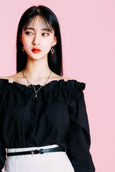 Off-Shoulder With Drawstring Detail Blouse - TOPS blouse summer blouse style blouse ideas Preppy Outfits, Teen Fashion Outfits, Korean Outfits, Girl Outfits, Cute Outfits, Kfashion Ulzzang, Ulzzang Girl, Korean Girl Fashion, Korean Fashion Trends