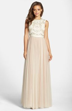 Needle & Thread Embellished Bodice Georgette & Tulle Gown available at #Nordstrom