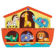 Wooden Noahs Ark Puzzle, Wooden Toys, Gifts and Toys
