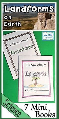 7 books your 2nd grade students can create for science to show what they know about types of land and the landforms on Earth. They will love them and ask for more. Only takes one piece of paper each and the kids can fold it. So easy but educational. R