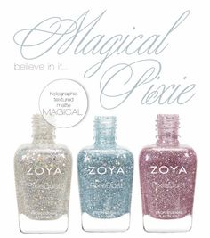 NEW Zoya 'Magical' PixieDust Collection for Spring 2014! / Promotional Image via BlushingNoir Beauty Blog
