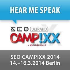 """Die SEO Campixx in Berlin gilt als das Branchenevent für alle Suchmaschinenoptimierer im deutschsprachigen Raum schlechthin. So wurde die Veranstaltung auch im Jahr 2013 zum wiederholten Male von Brancheninsidern mit dem Gütesiegel """"Platz 1 SEO Konferenz des Jahres"""" ausgezeichnet.   Wir sind stolz, dass wir dieses Jahr auf der ausverkauften Veranstaltung mit einem Vortrag dabei sein können!  Website: SEO Campixx Berlin -  http://www.seo-campixx-14.de/"""
