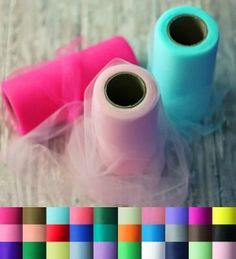Tulle by the Roll | Tulle for Tutu Dresses | 25 yard Tulle Fabric Rolls - Tons of color options. Each roll is only $2.69.