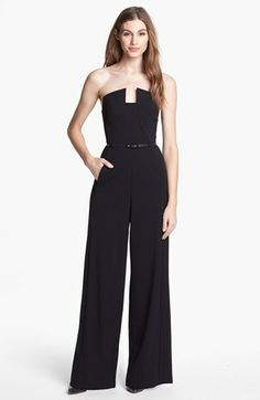 Black Halo 'Lena' Stretch Gabardine Jumpsuit available at #Nordstrom