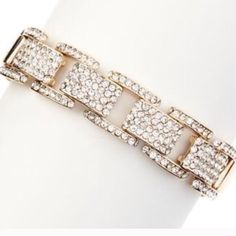18K Gold Plated Pave Link Bracelet T&J DESIGNS 18K Gold Plated Pave Link BraceletThe Gold VersionNickel & Lead FreeBundle & Save Here! T&J Designs Jewelry Bracelets