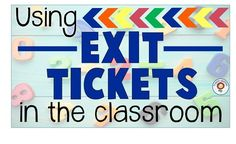 Exit Tickets: Quick and Easy Assessments Elementary Teacher, Upper Elementary, Elementary Schools, Formative And Summative Assessment, Reading Assessment, 3rd Grade Classroom, Classroom Fun, Classroom Resources, 1st Grade Activities