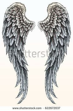 Image result for angel wings drawing