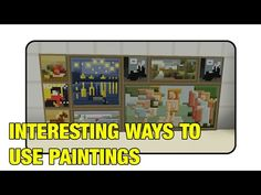 "Interesting Ways To Use Paintings In Minecraft ""Tutorial""(Minecraft Xbox/Ps3/Pc) - YouTube"