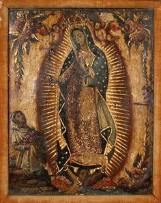 Our Lady of Guadalupe Mexican Hacienda, Mexican Art, Lady Guadalupe, Ancient Goddesses, Famous Artwork, Hail Mary, Blessed Virgin Mary, Religious Icons, Our Lady