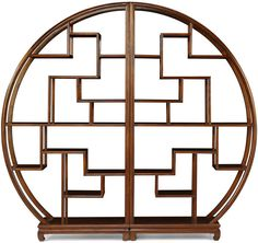 Chinese Circular Display Shelf, Warm Elm (Bookcases & shelf) | image 2
