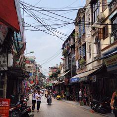Inside the Old Quarter of Hanoi, Vietnam