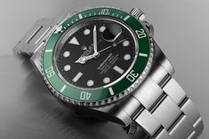 Wondering what's the best way to start a new year? Kick off the new year right and put a Submariner 126610LV on your wrist! Better than any firework possible. Buy Rolex, Rolex Models, Luxury Watch Brands, Rolex Submariner, Rolex Watches, Steel, Stuff To Buy, Accessories, Black