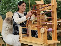 Inkle loom that can be adapted to spool-to-spool tape weaving