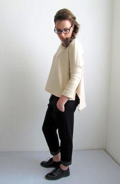 maglione RETTANGOLO + pantalone DUDE