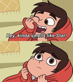 Starco,marco realizing that he has had feelings for star Star E Marco, Starco Comics, Star Force, Star Butterfly, Disney Stars, Love Stars, Cute Cartoon Wallpapers, Star Wars, Cartoon Shows