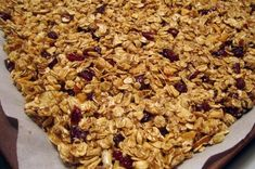 This crisp, cluster-y granola has a delightful fall twist of pumpkin, white chocolate, dried cranberries, and plenty of spice.---You'll want to eat it by the handful! Oats Recipes Indian, Cooking Rolled Oats, Oat Cereal, Pumpkin Spice Muffins, Best Comfort Food, Comfort Foods, Baking Muffins, Gourmet, White Chocolate