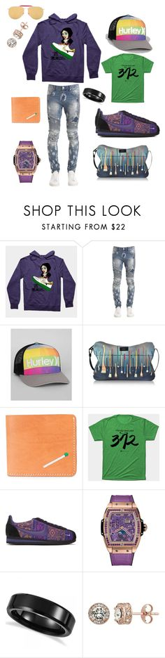 """Green Purp DeMarcus Alexan"" by demarcusalexan ❤ liked on Polyvore featuring Represent, Hurley, Paul Smith, Nick Fouquet, NIKE, Hublot, Allurez, Diamond Splendor, Thom Browne and men's fashion"