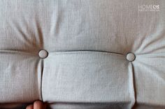 Diamond Tufting a headboard - pinch a pleat