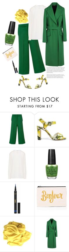 """Green With Envy: Wintery Nail Polish'"" by dianefantasy ❤ liked on Polyvore featuring beauty, Naeem Khan, Dolce&Gabbana, STELLA McCARTNEY, OPI, Yves Saint Laurent, ALPHABET BAGS, Jil Sander, GREEN and polyvorecommunity"