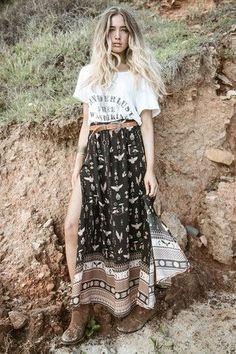 Phoenix Maxi Skirt - Mustang