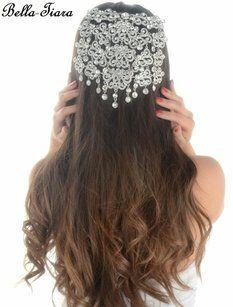 Bella-Tiara Bold Statement Crystal Hair Comb Wedding Heapiece