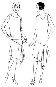 Past Patterns: #4990: Ladies' and Misses' Slip-On Dress Circa 1926-1928