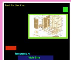 Trash Bin Shed Plans 132536 - The Best Image Search
