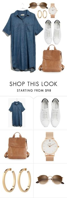 """""""Summer with brown details"""" by maja-kristiansson on Polyvore featuring Madewell, Prada, Aimee Kestenberg and CLUSE"""