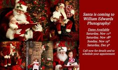 Santa is coming to William Edwards Photography Saturday December 9th! Go to our website for more info: http://ift.tt/2i7EJob