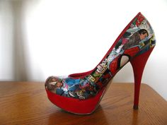 Custom Comic Book Heels- choose your own superhero/villain